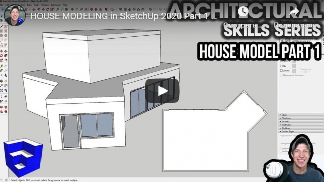 HOUSE MODELING in SketchUp 2020 Part 1