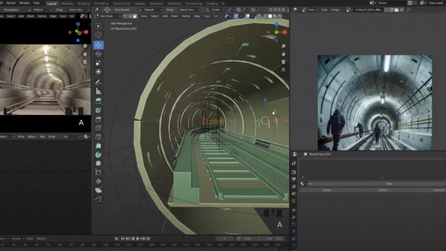 Сreating a tunnel in blender 2.8