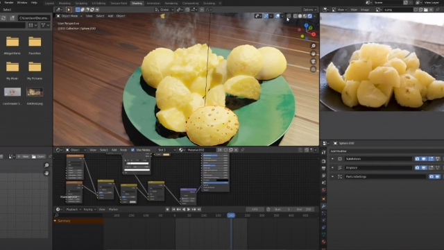 how to make potatoes in blender 2.8