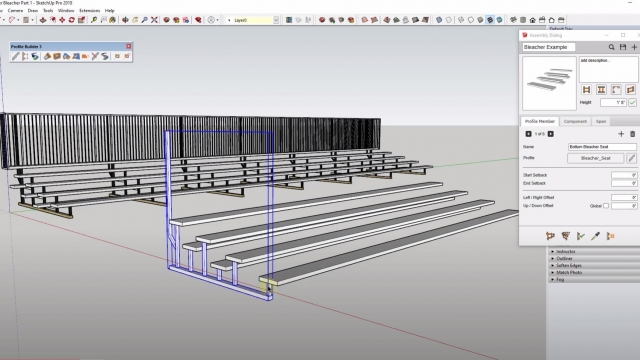 Creating a Bleacher Assembly in Profile Builder and SketchUp
