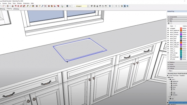 Cutting Holes IN COUNTERS for Sinks in SketchUp