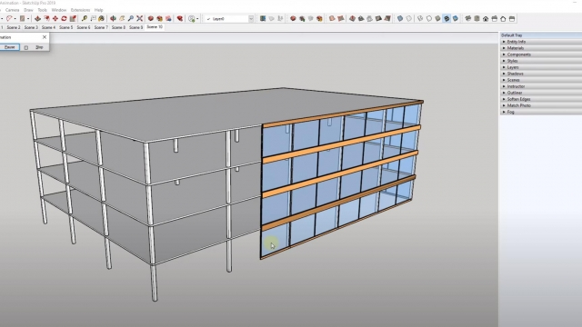 Create a CONSTRUCTION ANIMATION in SketchUp with Native Tools