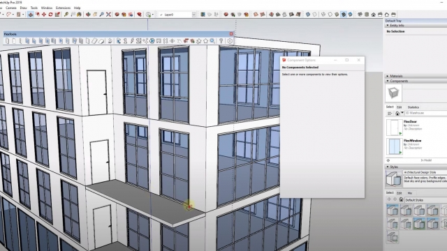 Creating COMMERCIAL WINDOWS in SketchUp with Flex Tools