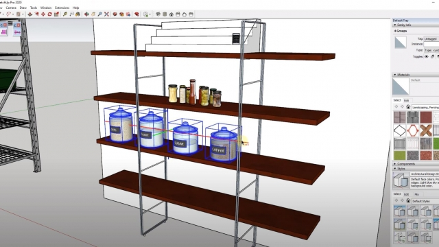 Spacing Objects in SketchUp with the Curic Space Extension