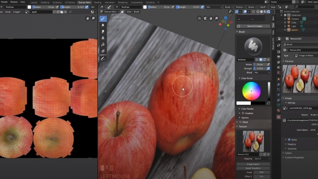 Blender 2.8 how to make apple
