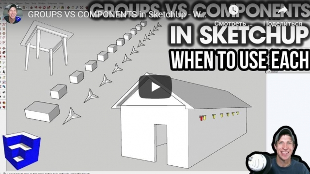 GROUPS VS COMPONENTS in SketchUp