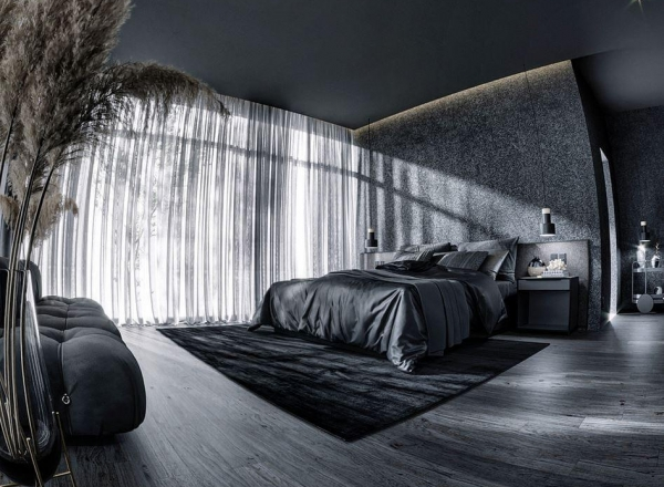 CGI - BEDROOM ALL BLACK
