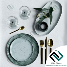посуда dishes Decorative set 02