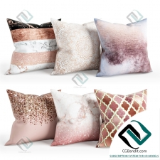 Подушки Pillows Rose and Golden