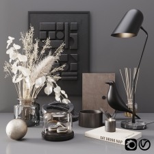 Black modern decor set