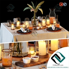 посуда dishes Table setting 24