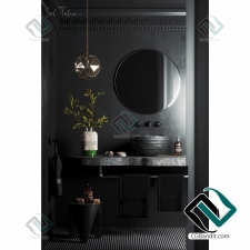 Bathroom black corona сцена ванная