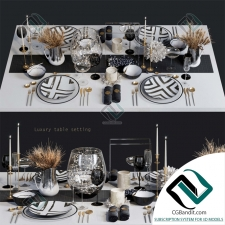посуда dishes Luxury 02