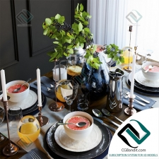 посуда Table setting 14