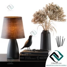 Декоративный набор Decor set Lampshade with Dried Plants