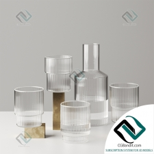 посуда dishes Ripple Glass and Carafe