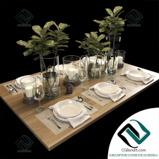 посуда dishes Table setting 22