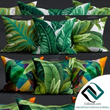 Подушки Pillows With leaves