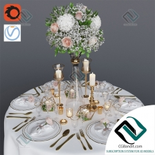 посуда Wedding table setting