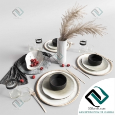 посуда dishes Serving set