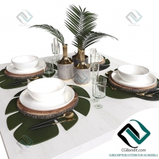 посуда dishes Table setting 21