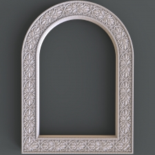 Carved frame
