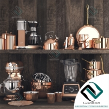 посуда dishes Copper Set