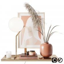 With pampas grass Decor set