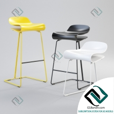 Барный стул Bar chair KRISTALIA BCN Slide Base