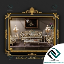 Зеркало Mirror Classic Regency Style Black and Gold
