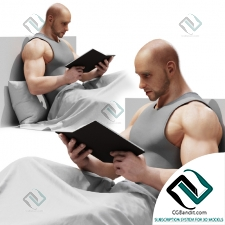 Живые существа Living creatures Reading man
